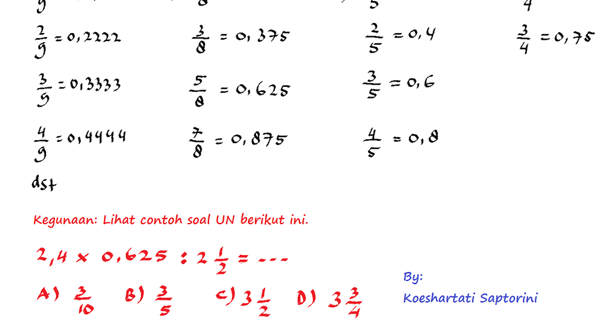 Koeshartati Saptorini Persiapan Un Matematika Sd