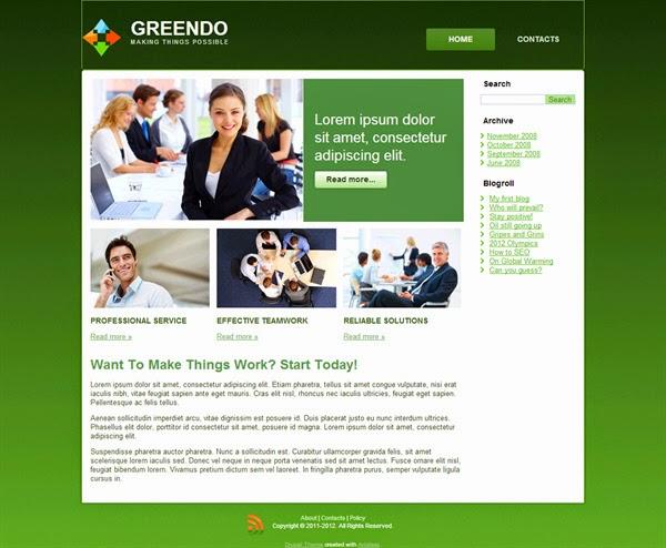 Greendo - Free Drupal Theme