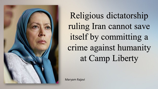 masage of MaryamRajavi on Camo Liberty attacted
