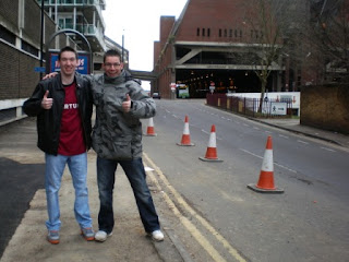 Marc (left) and me outside the now demolished Greyfriars Bus Station in Northampton during the epic year of sport that was 2012