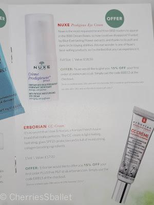 BBB Dream Box IV  - Nuxe Prodigeux  Eye Cream, Erborian CC Cream