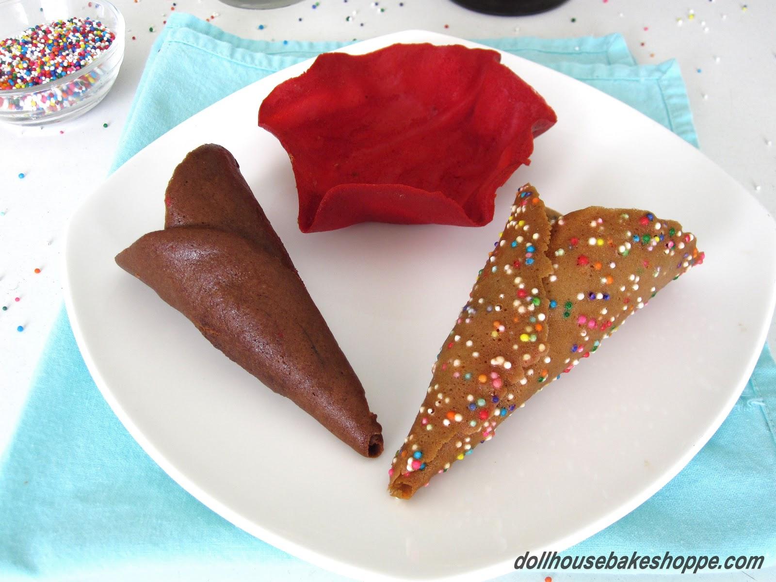 Homemade Flavored Ice Cream Cones: Confetti Cones, Chocolate Cones ...