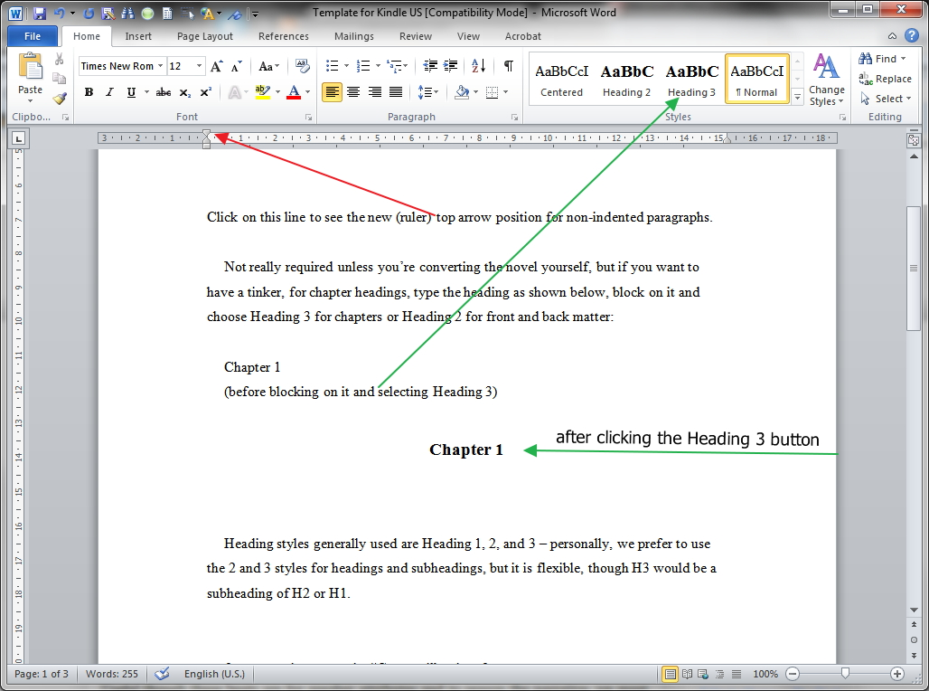 ms word novel template