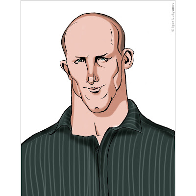 Darren Lockyer caricature