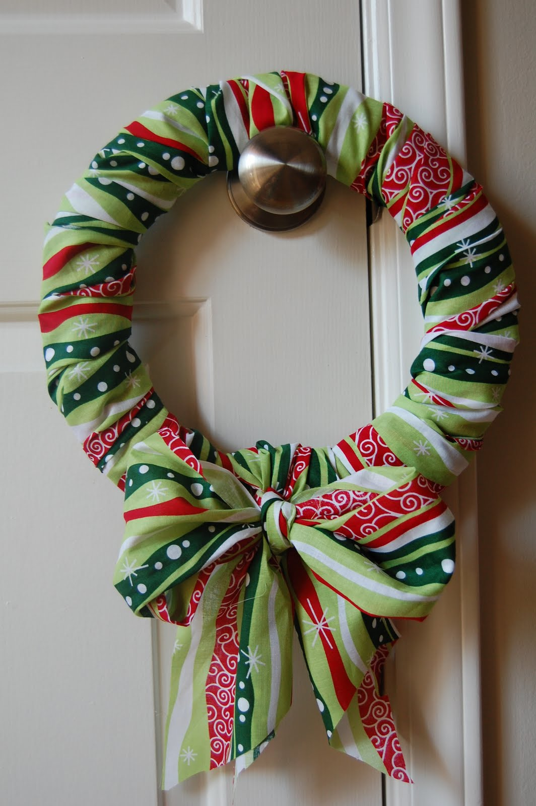 Organized chaos christmas fabric wreath for Fabric crafts to make