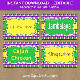 Shop: Editable Mardi Gras Labels