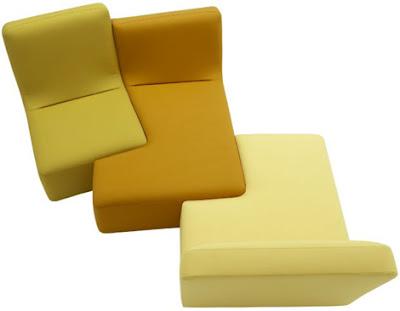 Las partes de este sillón se juntan como un puzzle y son ideales para espacios pequeños. Además, vienen en una gran gama de colores de azul, amarillo, rosa y morado, entre otros.