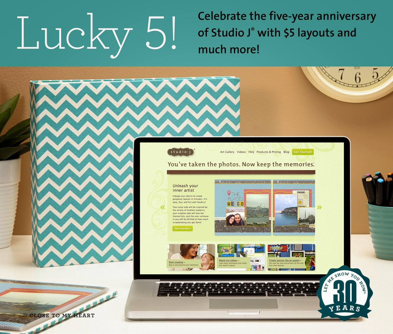 CTMH November Special Lucky 5 Studio J