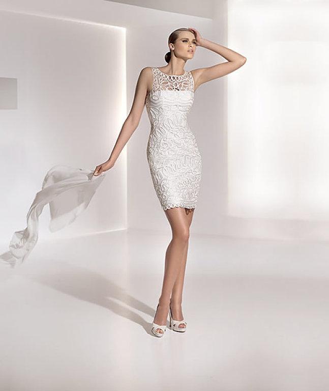 Vestido de novia civil otono