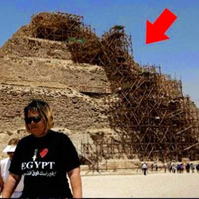 A pirâmide mais antiga do Egito está sendo totalmente destruída!