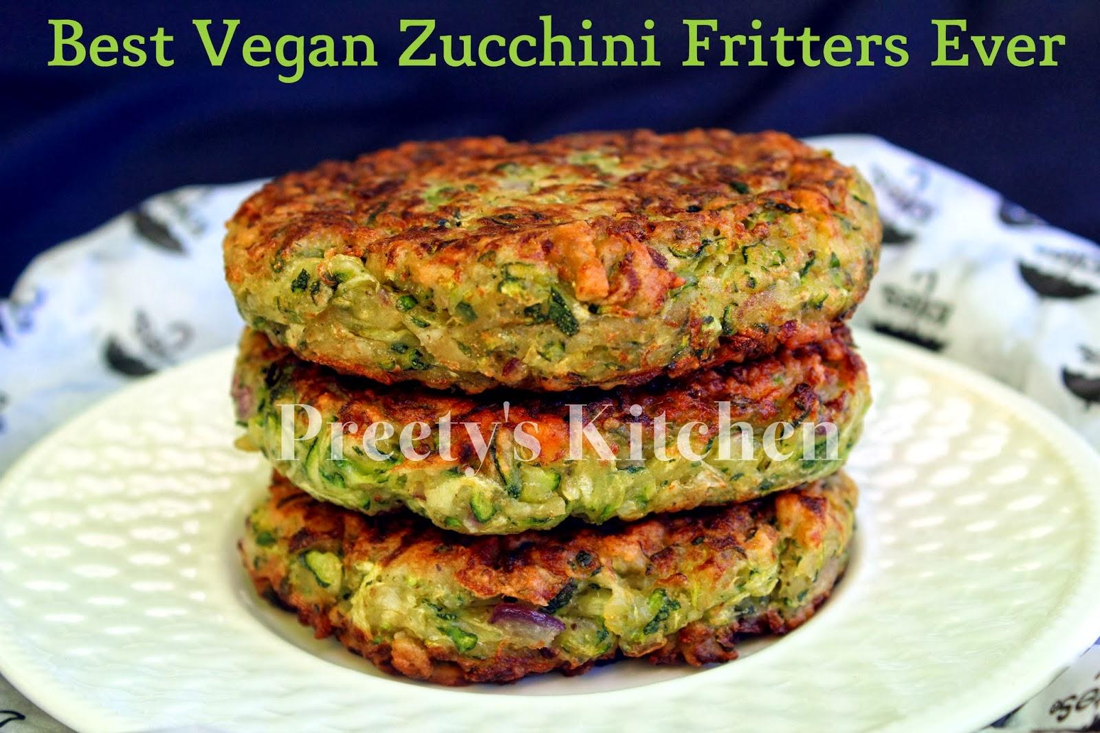 Preetys kitchen best vegan zucchini fritters ever forumfinder Choice Image