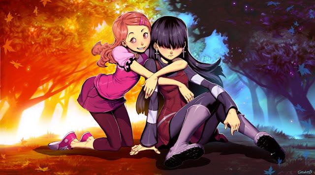 anime pink,anime black,Genzoman