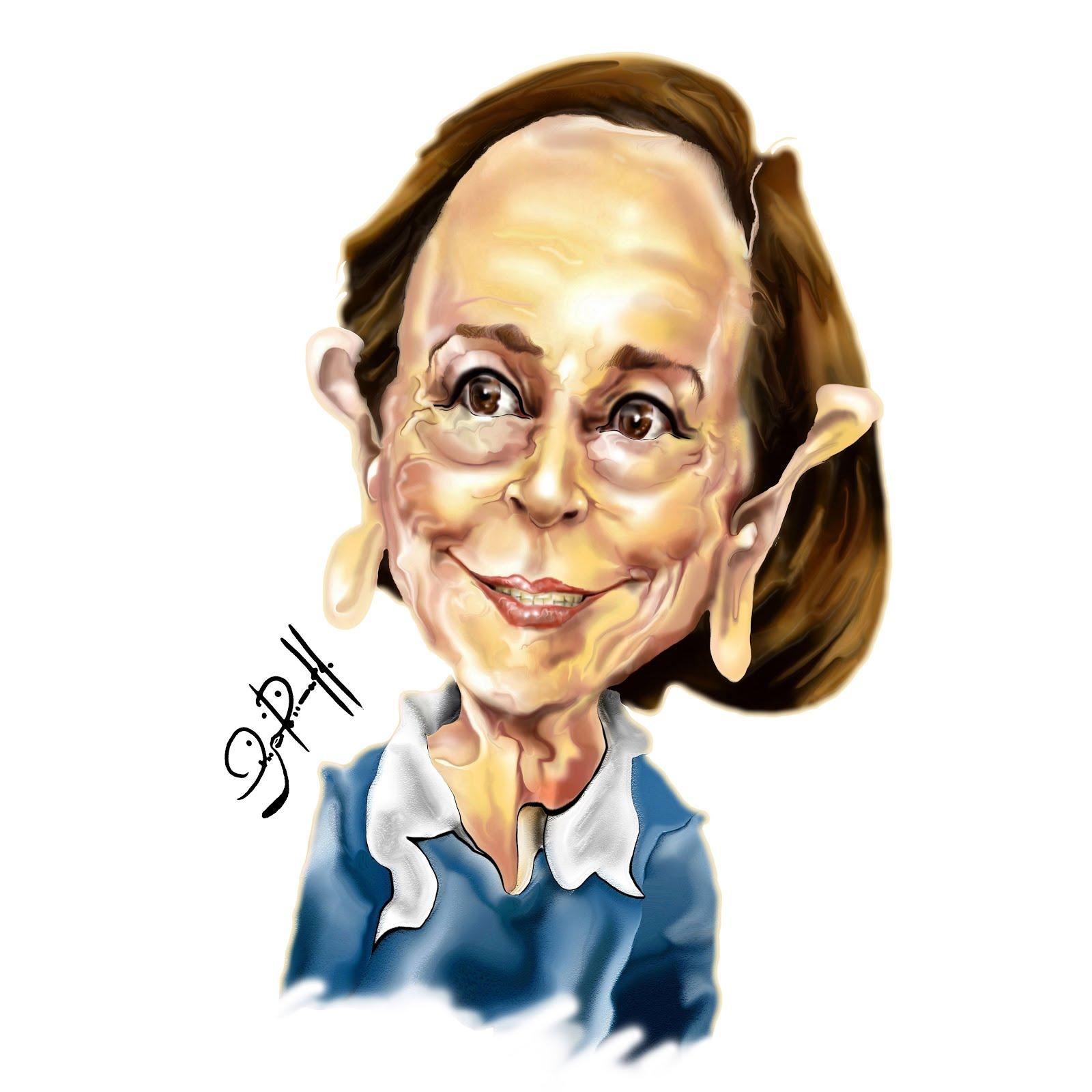 Caricatura digital_ Fernanda Montenegro