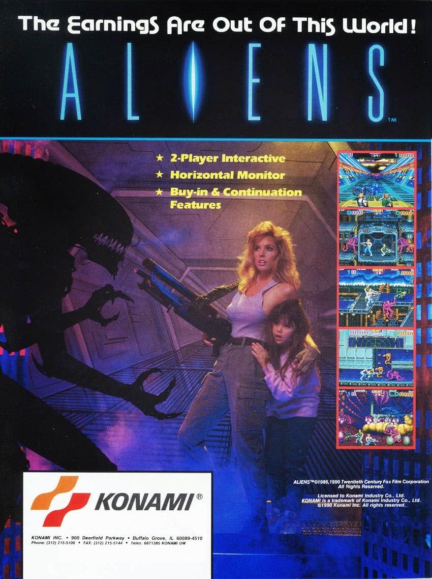 Aliens Sala Giochi Konami