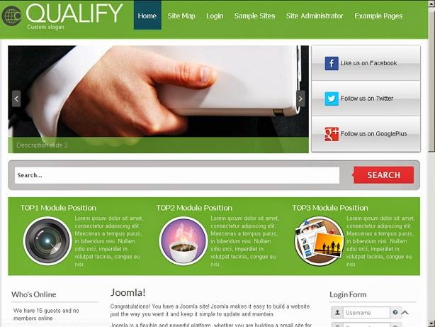qualify free template joomla 3.x | free template joomla 3.8 - 3.7, Powerpoint templates