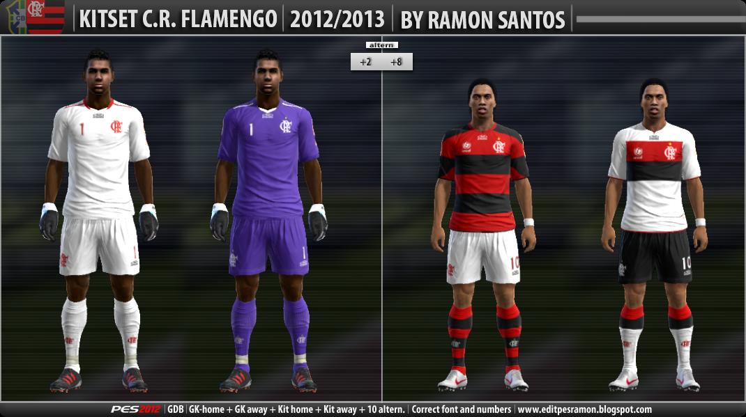 C.R.Flamengo 12-13 Kitset - PES 2012