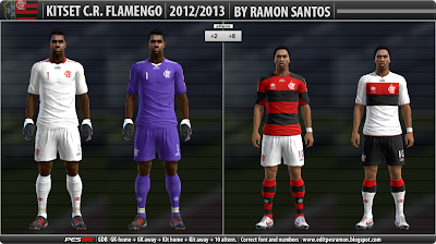 Print PES 2012: Uniforme CR Flamengo 12/13