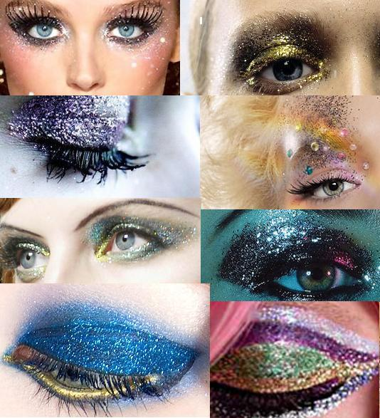 Collection of Gorgeous Glittery Eye Makeup
