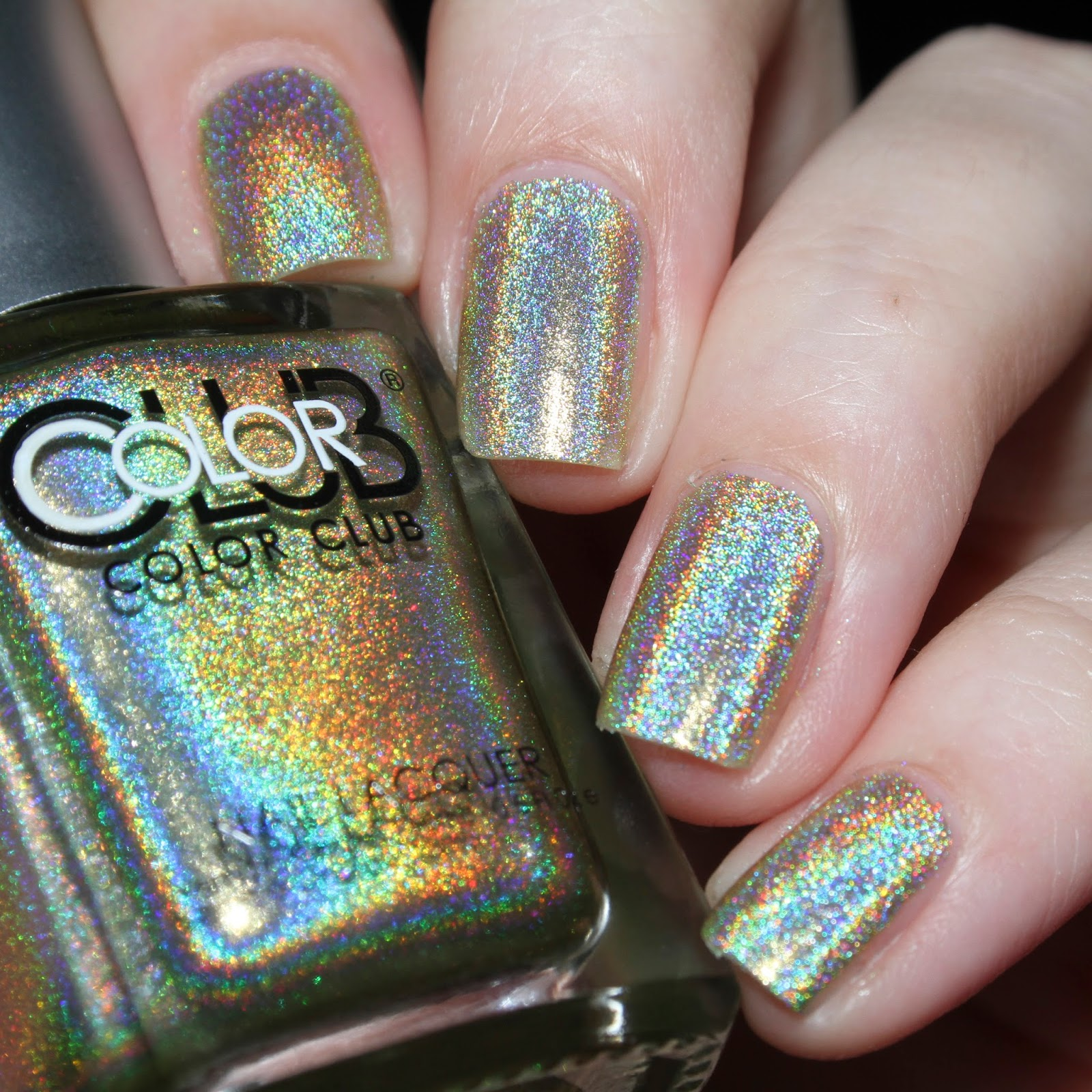 Color Club Holographic Nail Polish Swatches: Elaine Nails: Color Club Halo Hues 2013 Holographic Swatches