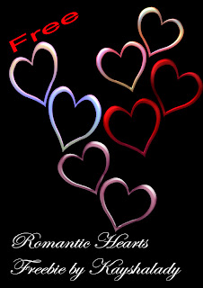 Romantic Hearts freebie PNG, PNG TUBES, hearts, digital scrapbooking freebies