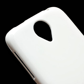TPU Case with Matte Back Side for Lenovo S820 - White