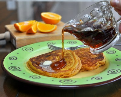Carrot Buttermilk Pancakes, light and fluffy buttermilk pancakes with a surprise ingredient, a jar of carrot baby food. Just one more reason to Make Tonight #PancakeNight.