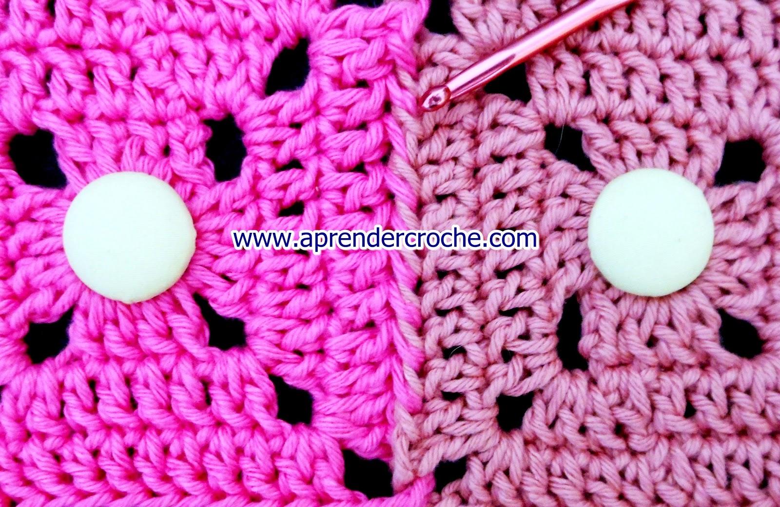 aprender croche quadrados square rosa emenda costura agulha crochet edinir-croche loja dvd frete gratis facebook youtube