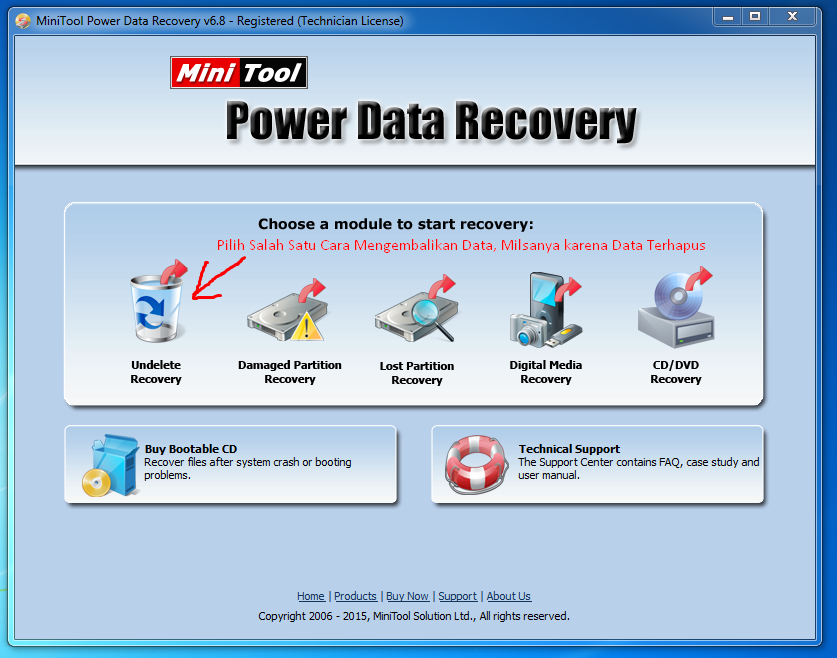 Pilihan Masuk MiniTool Power Data Recovery 6.8