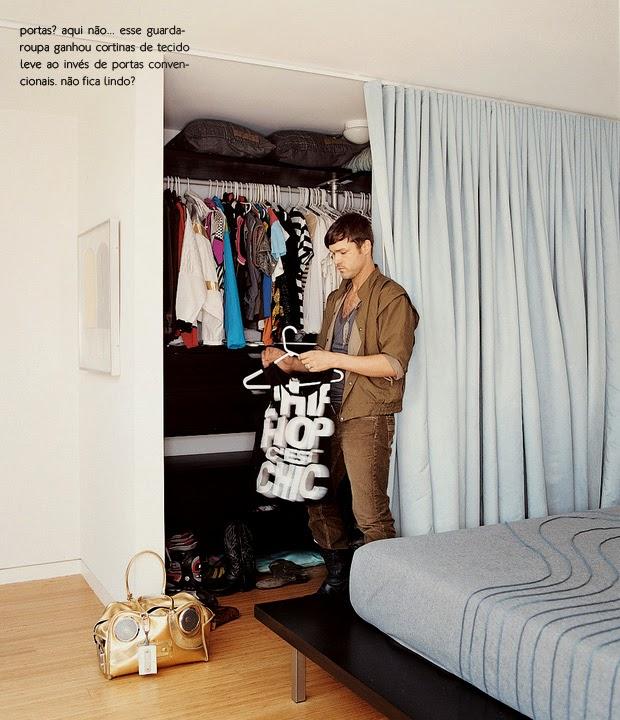 Imagem referans design blog for Cortinas como puertas de armario