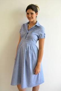 vestido curto para gestante