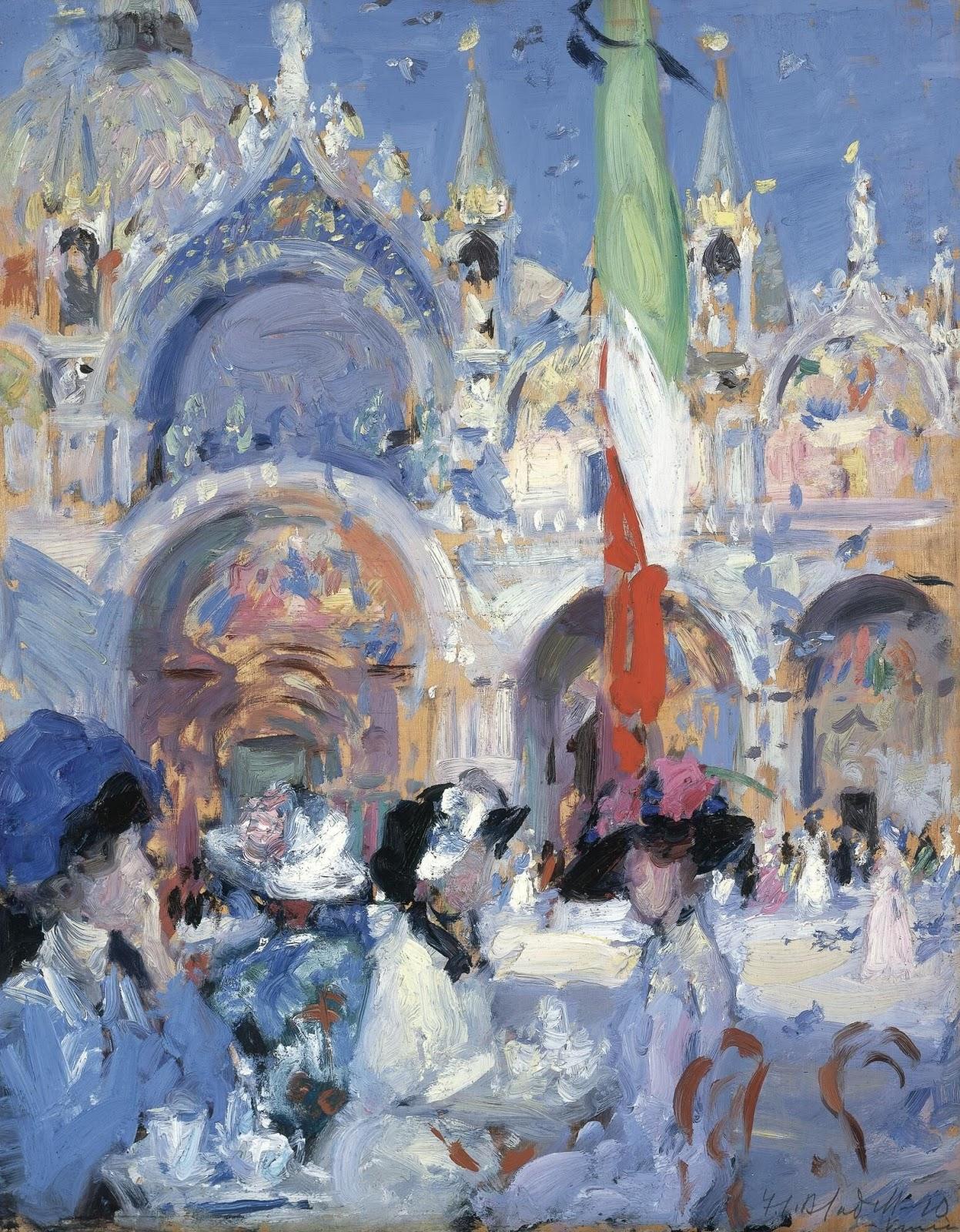 Francis Cadell Florians cafe Venice