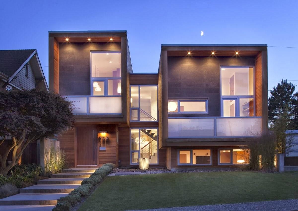 Decoracion actual de moda fachadas de casas modernas for Fachadas modernas para casas 2016