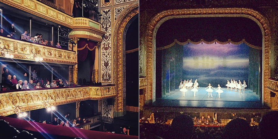 Latvian National Opera House Swan Lake ballet
