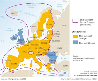 Espace Schengen 2008