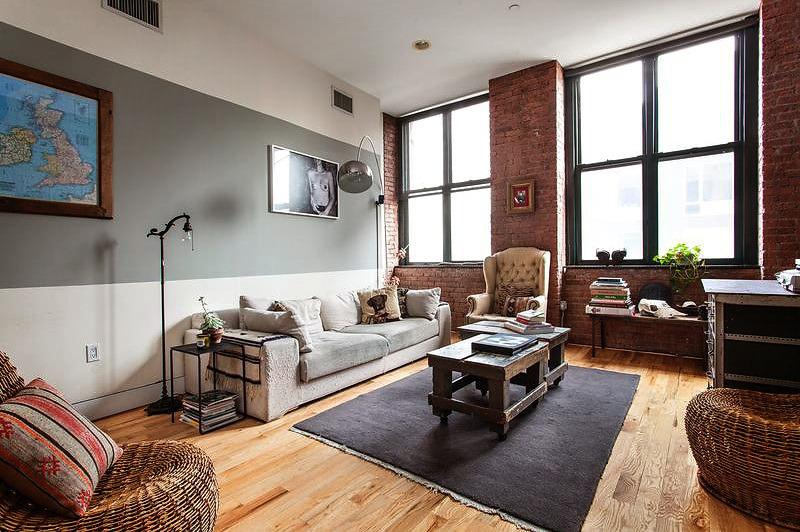 Interior ecl ctico apartamento industrial en brooklyn virlova style - Apartamentos en nueva york centro ...