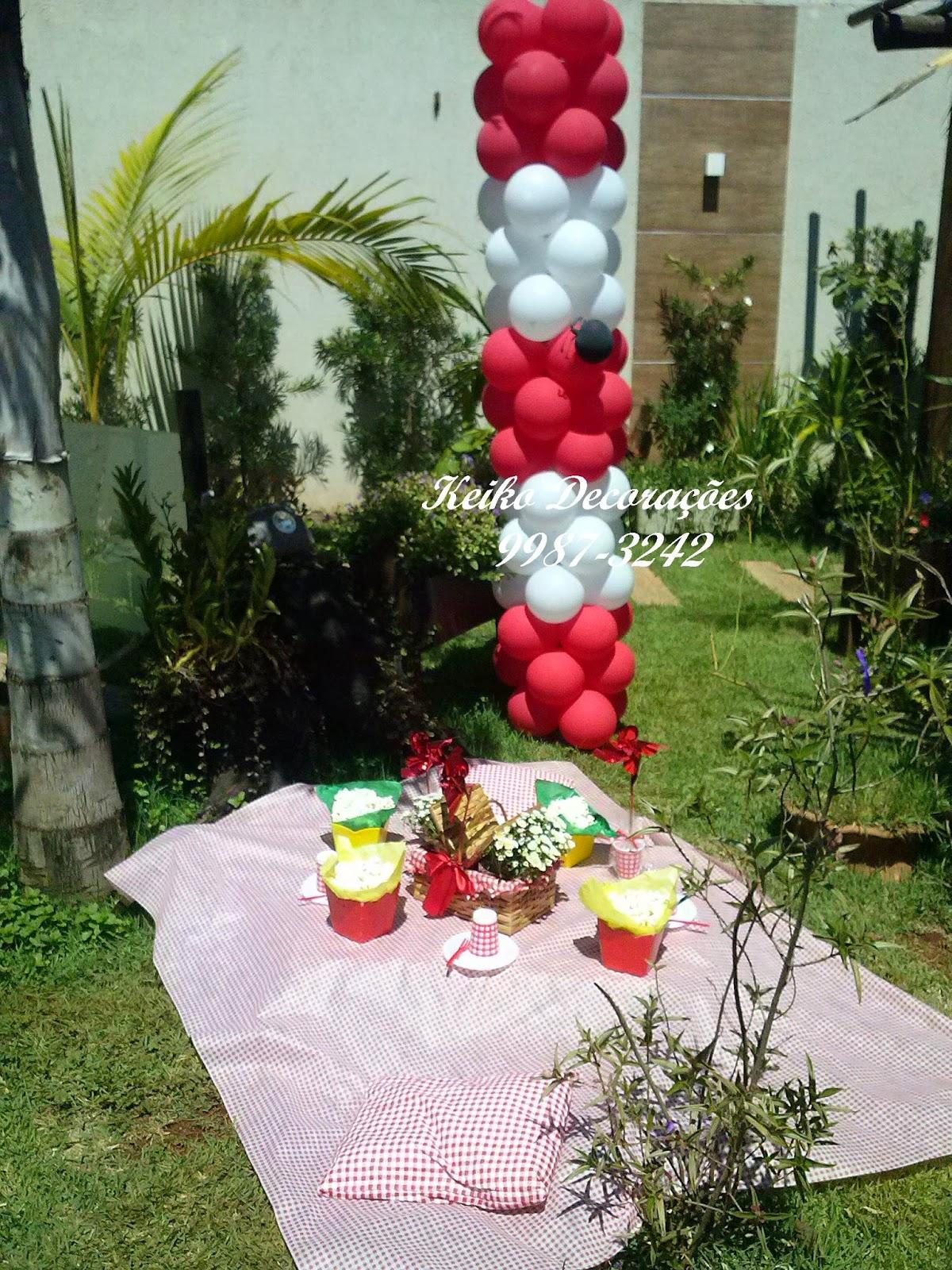 Decoração Yasmim ~ Keiko Decoraç u00e3o com Balões Pic Nic da Yasmim