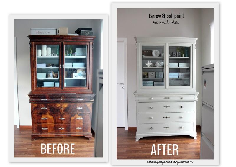 ein schweizer garten b ro update n 2 buffet vorher nachher. Black Bedroom Furniture Sets. Home Design Ideas