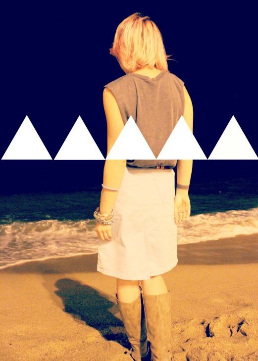 de noche en la playa
