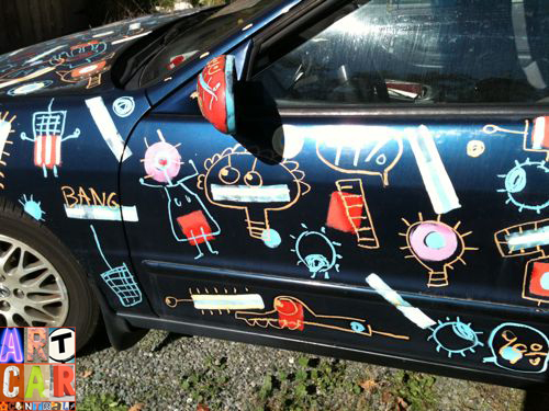 Occupy Wall Street Protester Art Car for the 99%