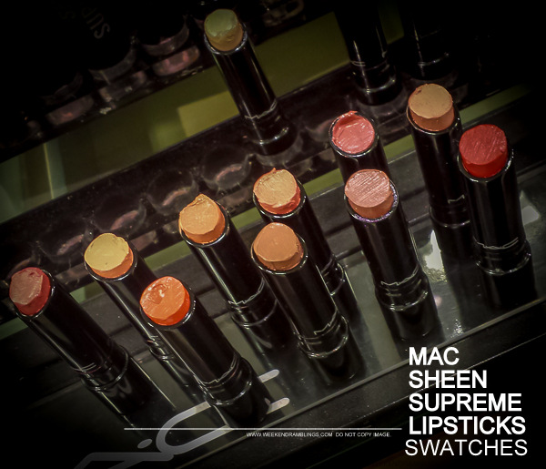 MAC Sheen Supreme Lipsticks - Swatches