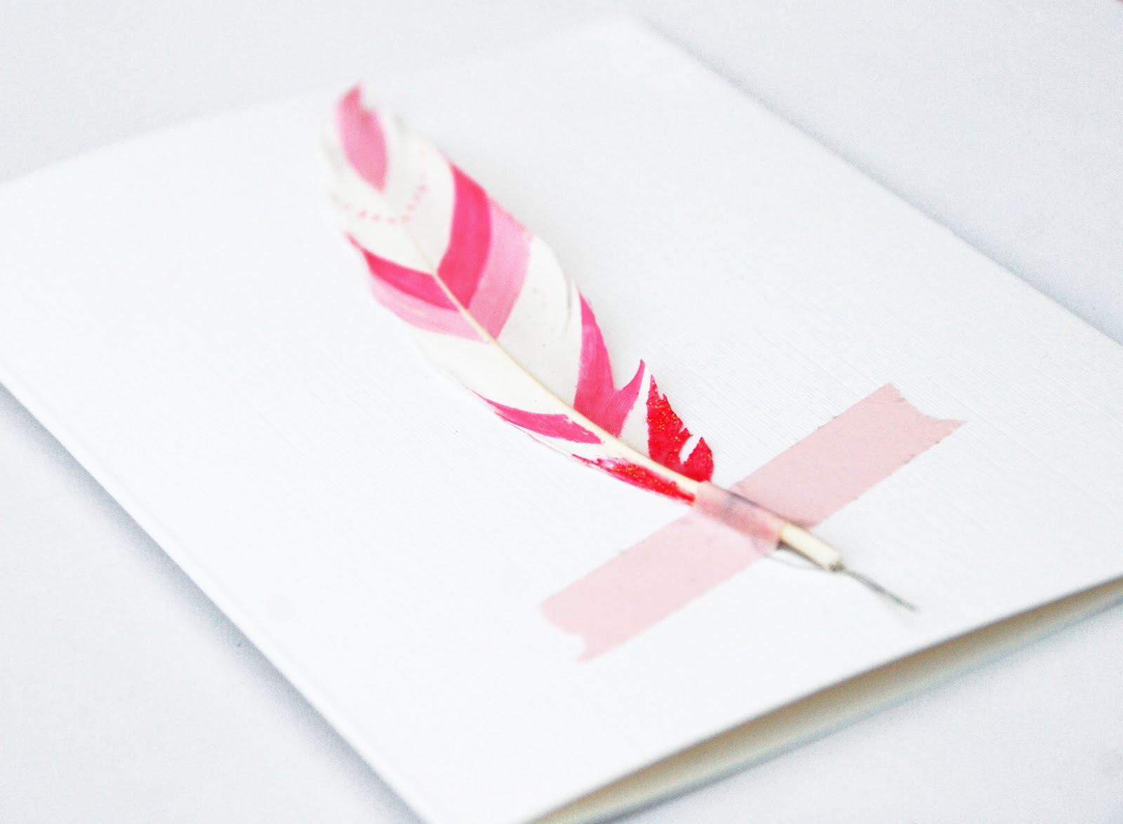 https://www.etsy.com/uk/listing/176287888/pink-feather-valentine-card-card