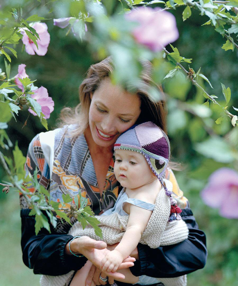 Christy Turlington photographed by Bruce Weber for Dujour 2012 / baby girl, mother & daughter fashion editorials / models & their children / via fashioned by love british fashion blog