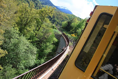 The Yellow Train in The Pyrenees