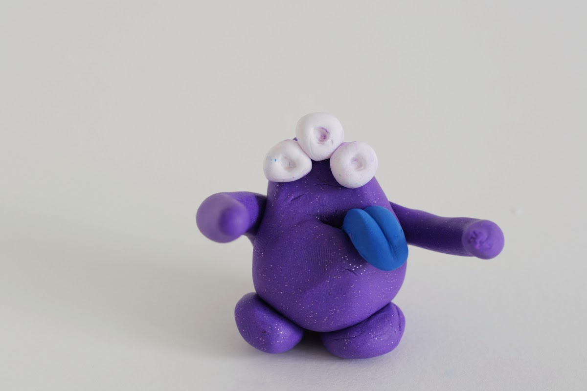 Clay Monster Huggers-Kid Valentines DIY by the crafty kitty for hideous dreadful stinky