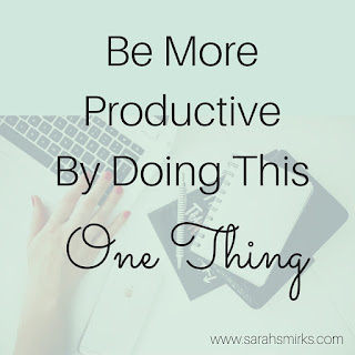Be more productive by cutting out the non-important things in your life to focus on your dream | Sarah Smirks