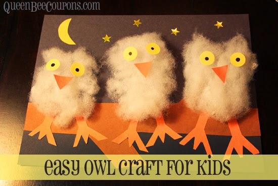 Owl craft for preschooler kids.