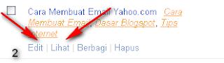 cara edit tulisan artikel blogspot