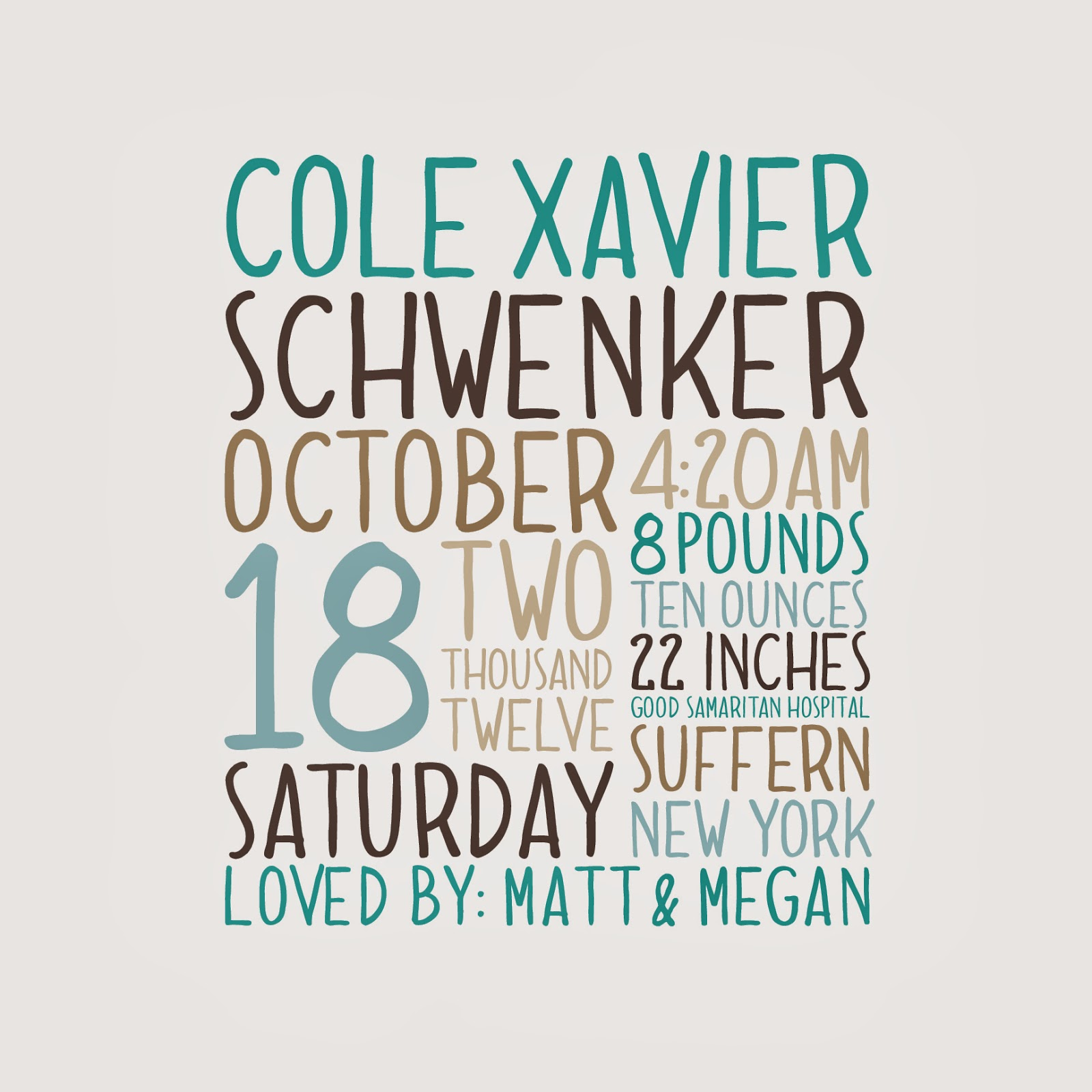 Xavier color printing - Dolce Caffee Typeface Cotton And Jadeite Color Palette