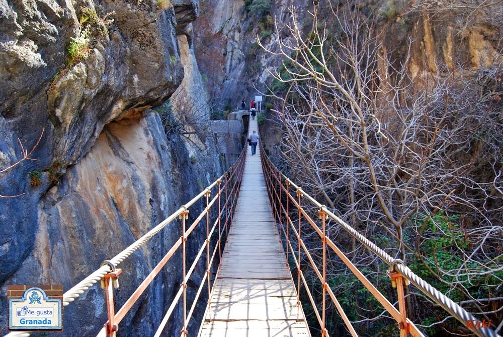 Puente colgante de los Cahorros (Monachil, Granada)