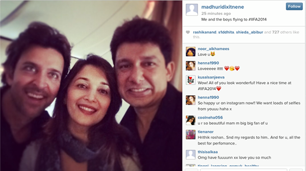 Madhuri Dixit - Nene posts pics on her INSTAGRAM from IIFA Tampa Bay, USA